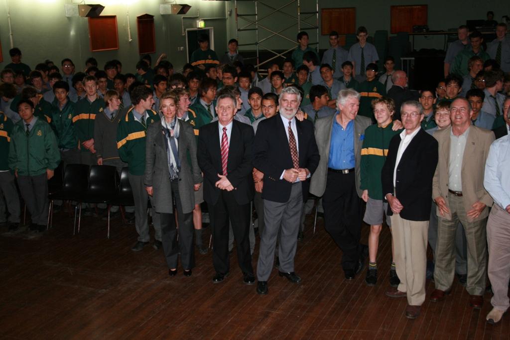 Long Tan Veteran Dave Sabben at Epping Boys High School