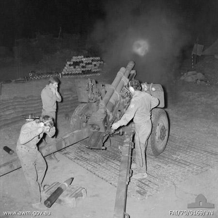 Australian Artillery Nui Dat Vietnam